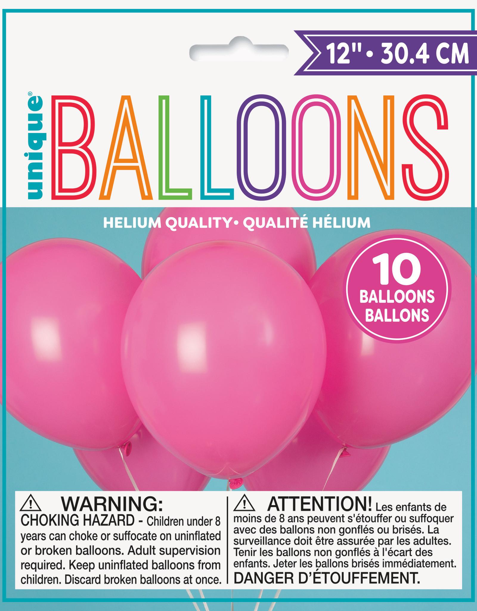 "12"" Latex Balloons 10ct - Bubblegum Pink"