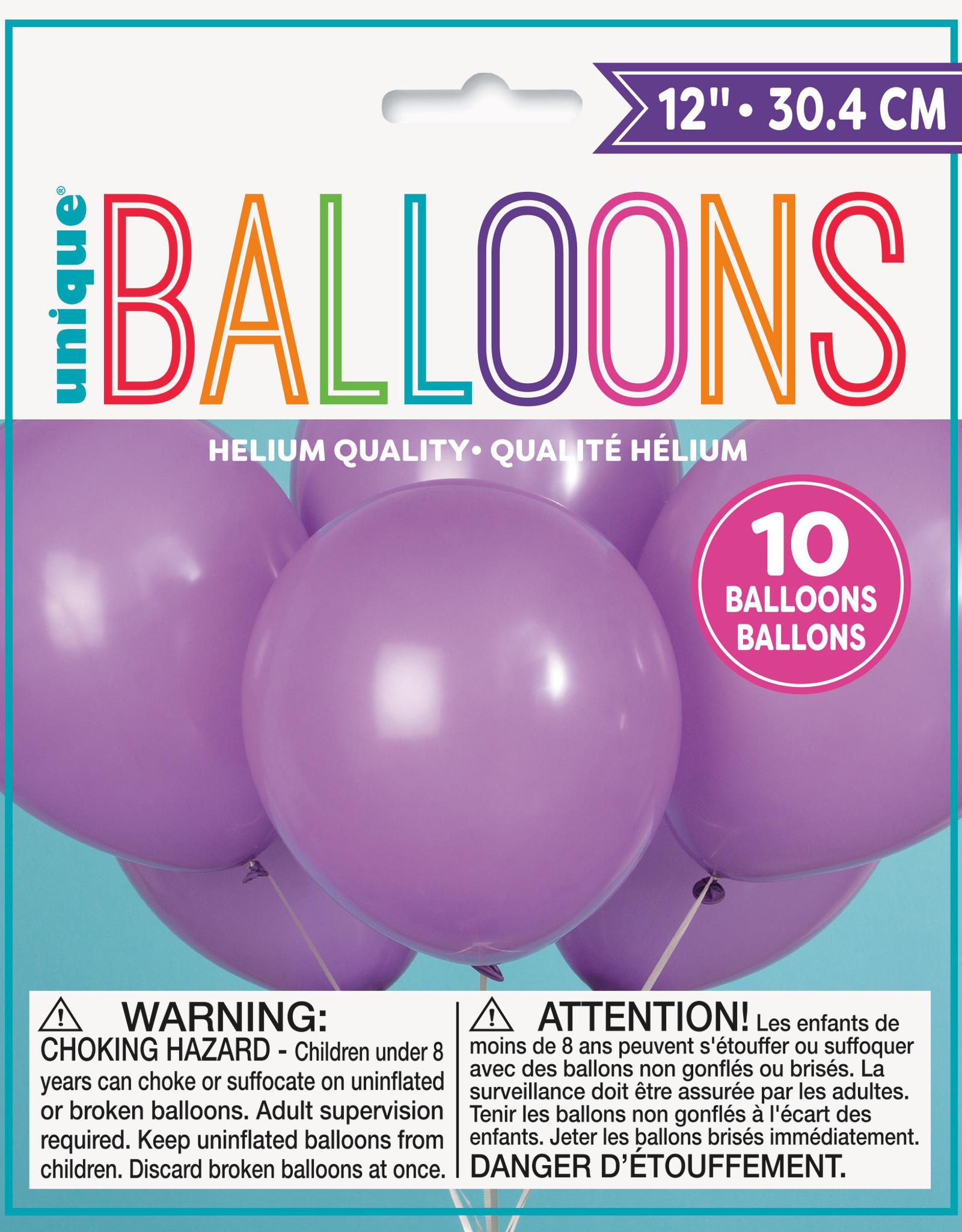 "12"" Latex Balloons 10ct - Lavender"