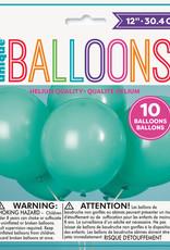 """12"""" Latex Balloons 10ct - Seafoam Aqua"""