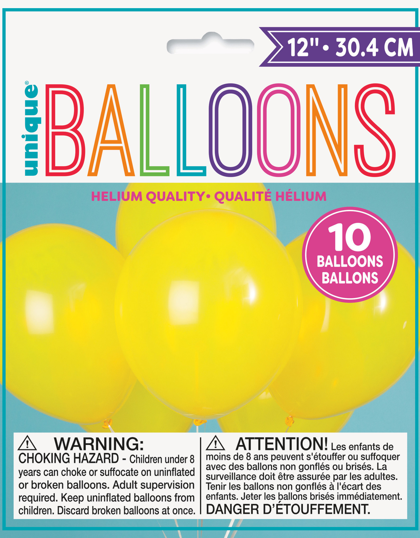 "12"" Latex Balloons 10ct - Yellow"