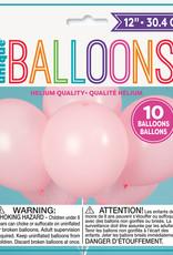 """12"""" Latex Balloons 10ct - Petal Pink"""
