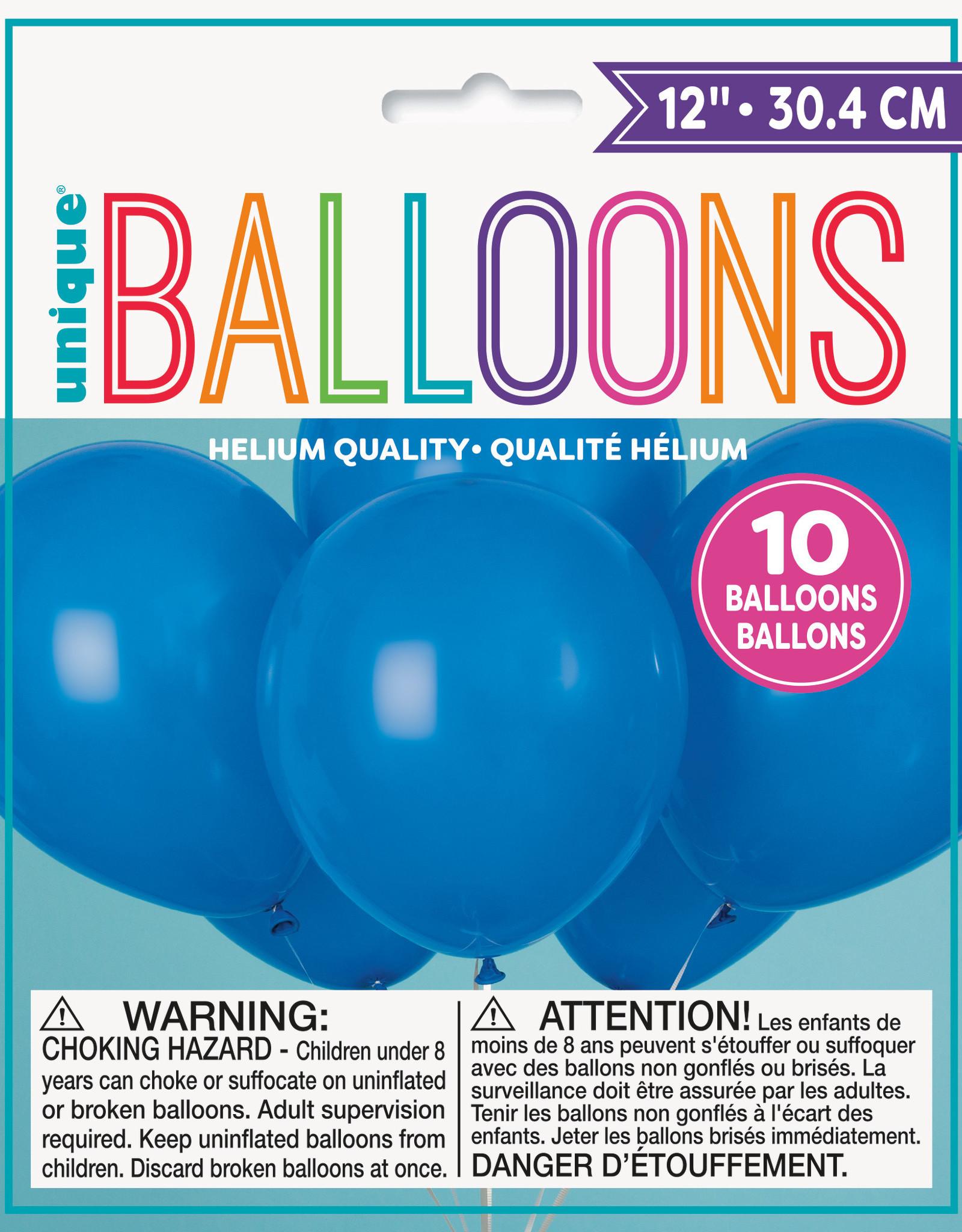 """12"""" Latex Balloons 10ct - Royal Blue"""
