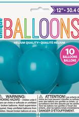 "12"" Latex Balloons 10ct - Teal"