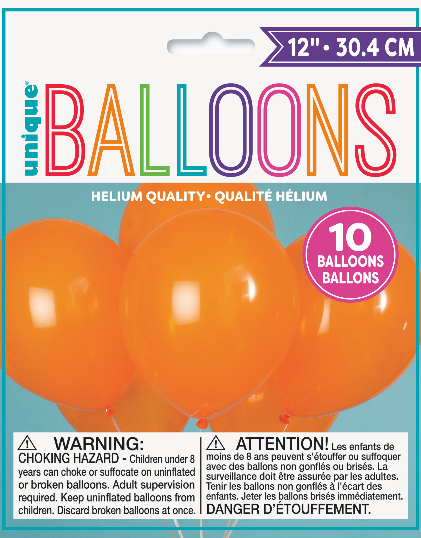 "12"" Latex Balloons 10ct - Pumpkin Orange"