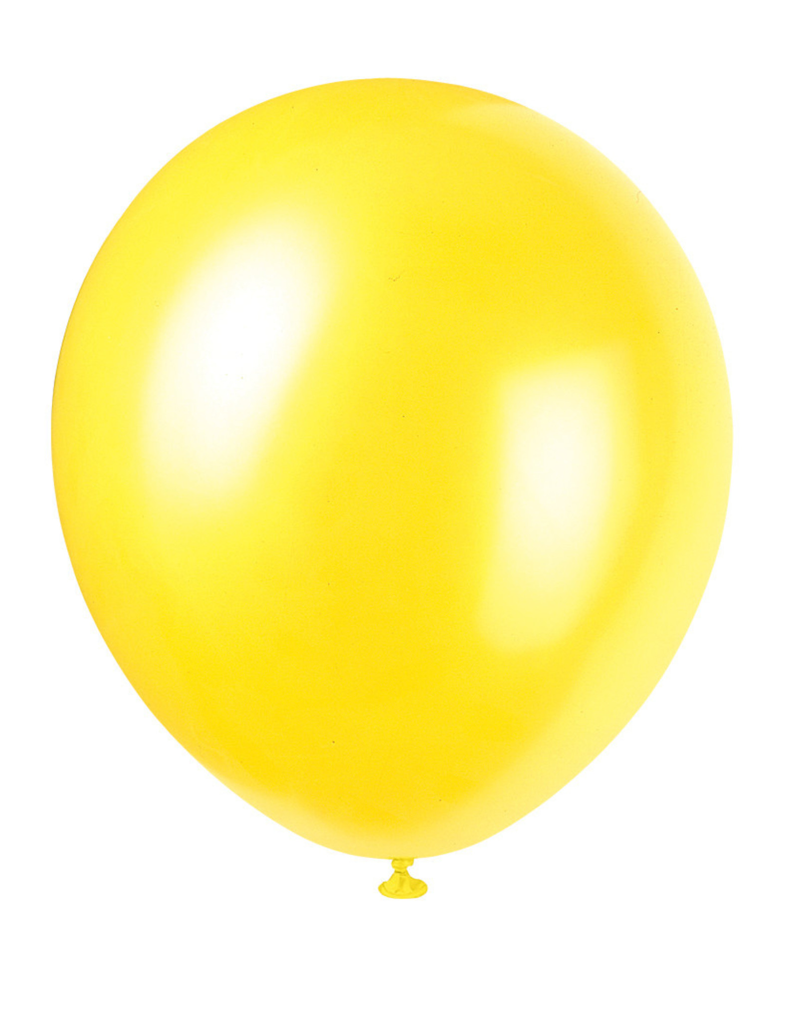 """12"""" Latex Pearlized Balloons 8ct - Golden Yellow"""