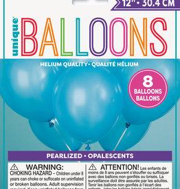 Powder Blue Pearlized Latex Balloon 8 pk