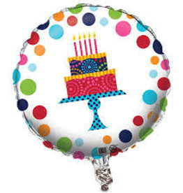 Birthday Cake Stand Foil Balloon 18""