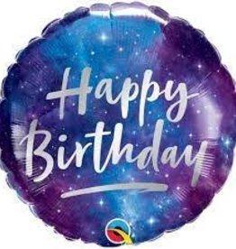 """Birthday Galaxy Foil Balloon 18"""""""