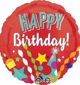 "Festive Red Birthday Foil Balloon 18"""