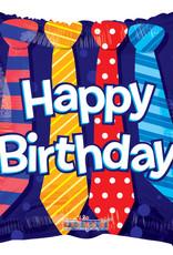 "18"" Happy Birthday Ties Balloon"