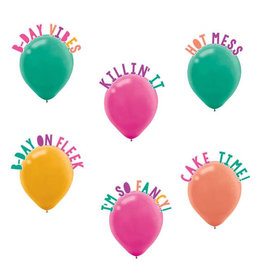 """Young and Fab 12"""" Balloons, 6ct"""