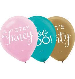 "Let's Party Latex Balloon 12"" 15pk"