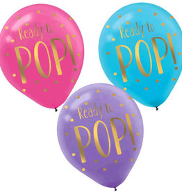 """""""Ready To POP"""" Baby Latex Balloon, 6pk"""