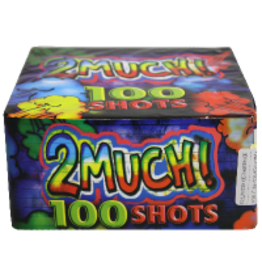 2 Much! Fireworks Cake, 100 Shots