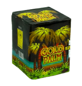 Gold Palm Fireworks Cake, 25 Shots