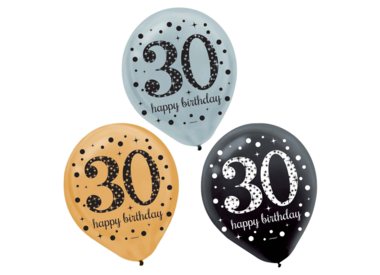 Age Latex Balloon Packages