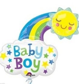 """Baby Boy"" Cloud Foil Balloon 30"""