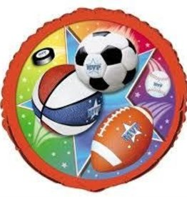 Sports Theme Foil Balloon 18""