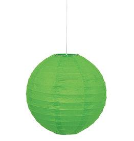 """Lime Green 10"""" Paper Lantern"""