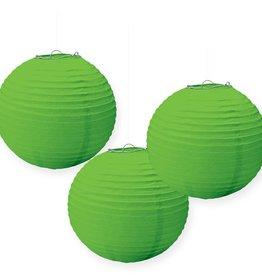 """Lime Green 9.5"""" Paper Lanterns, 3pk"""