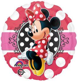 "Minnie Mouse Dots Foil Balloon 18"""