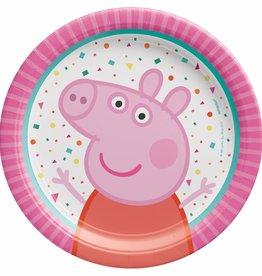 "Peppa Pig Confetti 7"" Dessert Plate, 8ct"