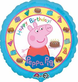 "Peppa Pig 'Happy Birthday' Foil Balloon 18"""