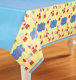 "Peppa Pig Plastic Tablecloth, 54"" x 108"""