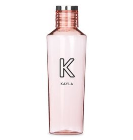 Light Pink Plastic 27oz  Water Bottle - Customizable