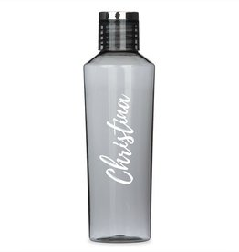 Charcoal Plastic 27oz Water Bottle - Customizable