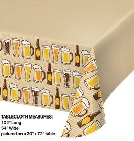 "Beer Printed Rectangular Tablecloth 54"" x 102"""
