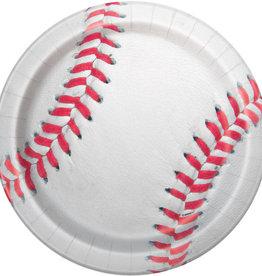 "Baseball Round 9"" Dinner Plates, 8ct"