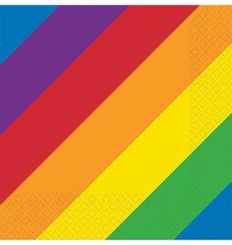 Rainbow Printed Beverage Napkins, 16ct