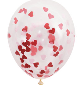 """Red Heart Confetti Balloons, 16"""" Latex, 5ct"""