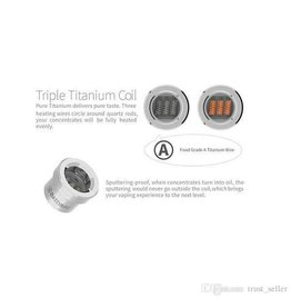 DazzVape DazzVape MELTER Replacement Coils - Triple Titanium Quartz Best Wattage: 16-25W / TC 300-450 F Single