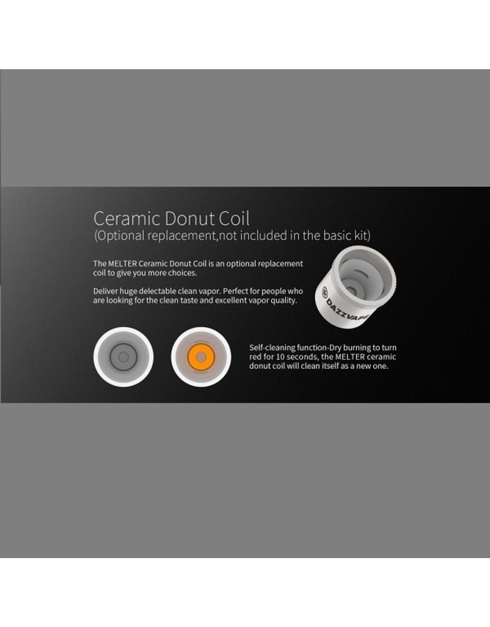 DazzVape DazzVape MELTER Replacement Coils - Ceramic Donut Best Wattage: 20-25W / TC 280-380 F Single