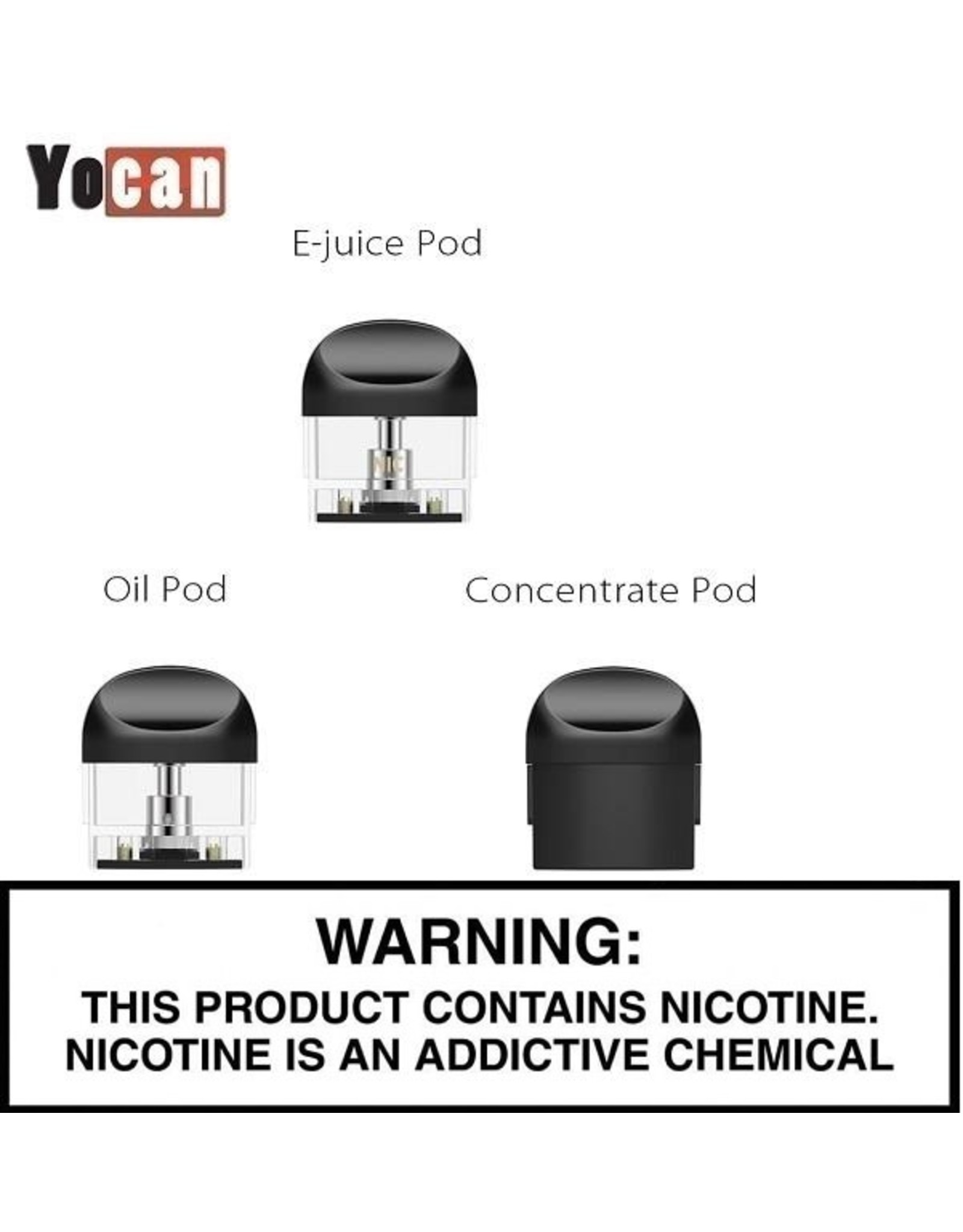 Yocan Yocan Evolve 2.0 Cartridges - 4pk