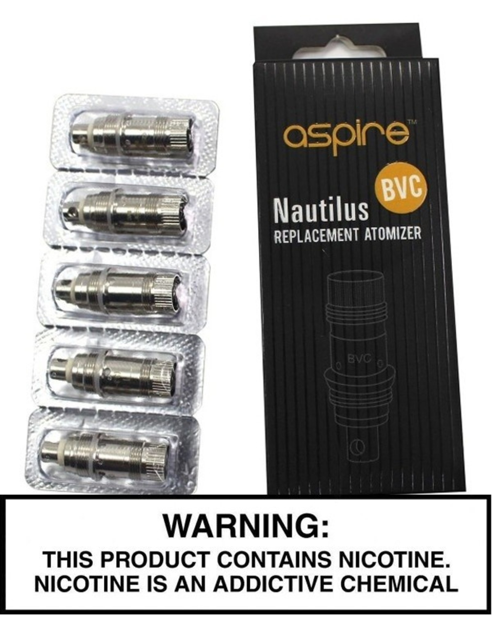 Aspire Aspire Nautilus (N-Ego Tank) BVC Replacement Coils 5 pack