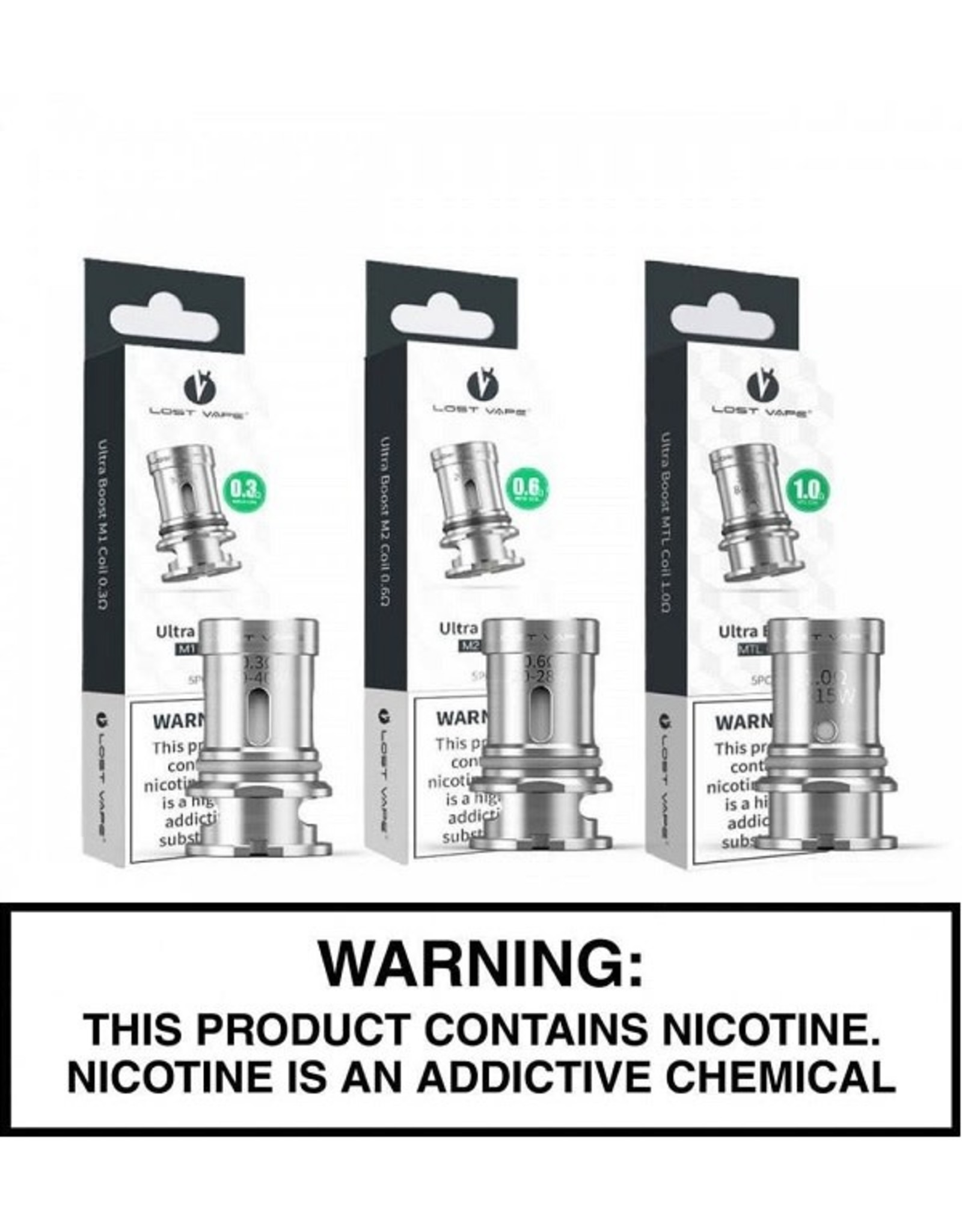Lost Vape Lost Vape Ultra Boost Replacement Coils- 5 pack