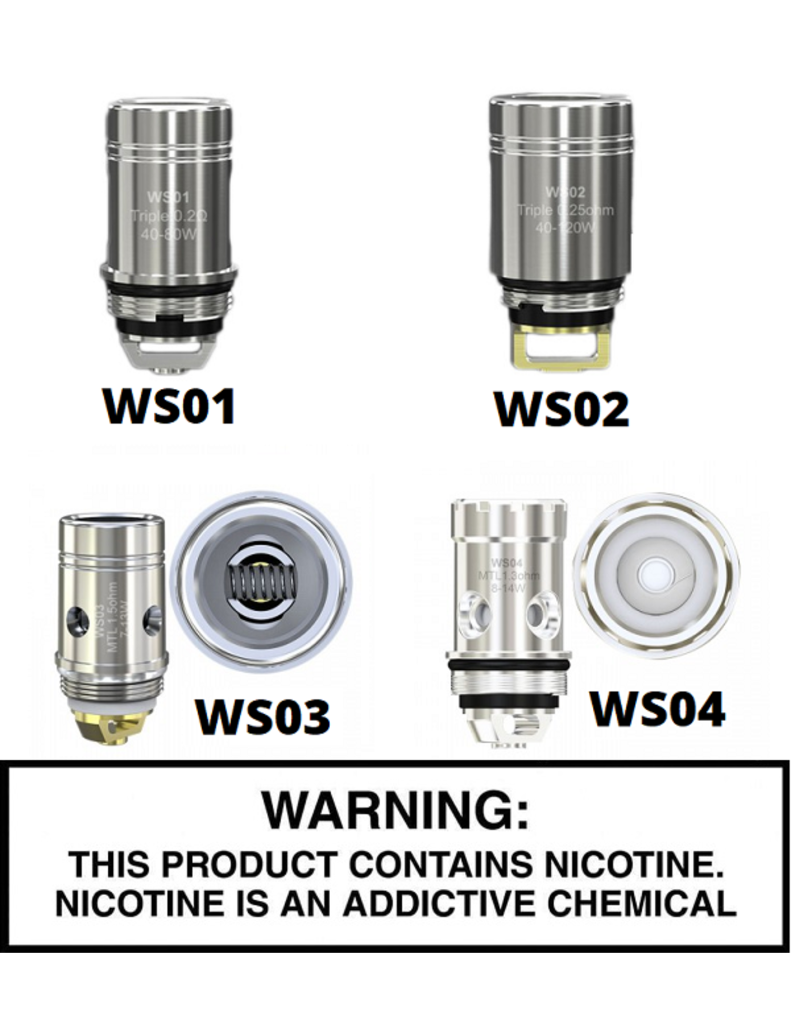 Wismec Wismec WS Series Replacement Coils - Pack Of 5