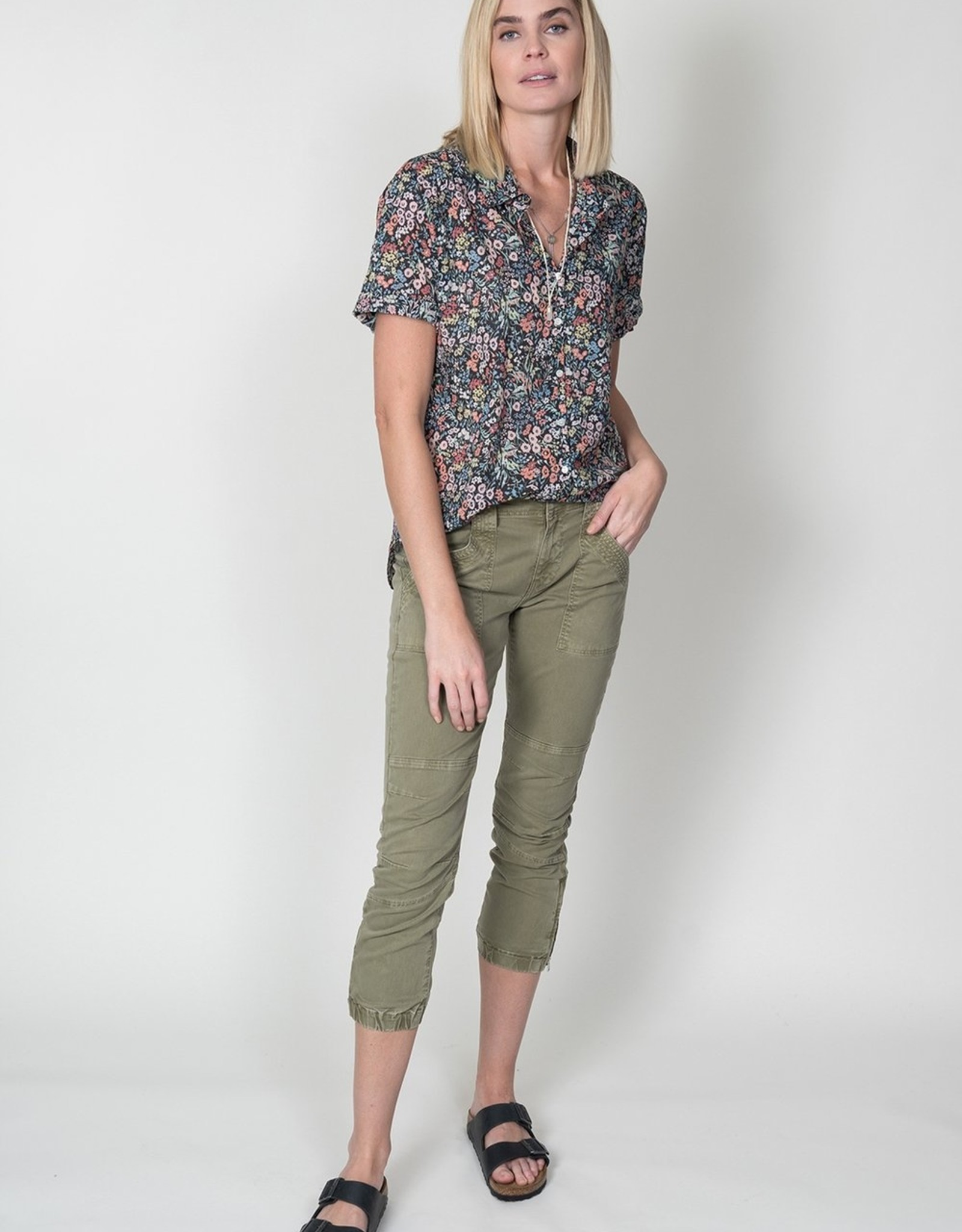 dylan prairie floral callie roll sleeve blouse
