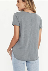 project social t wearever tee - v-neck tee w/ raw detail