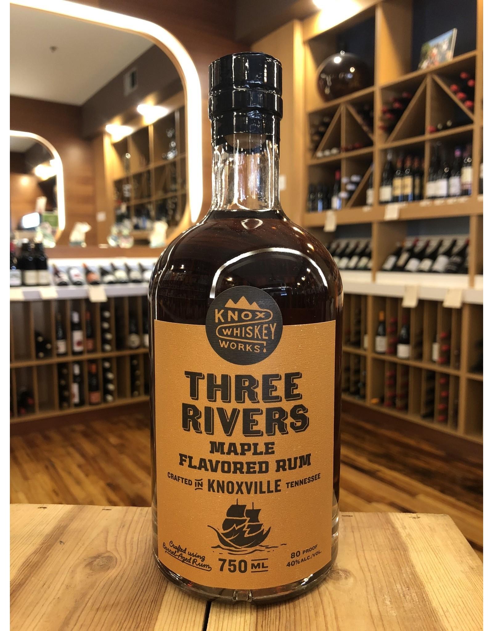 Knox Whiskey Works Three Rivers Maple Rum - 750 ML