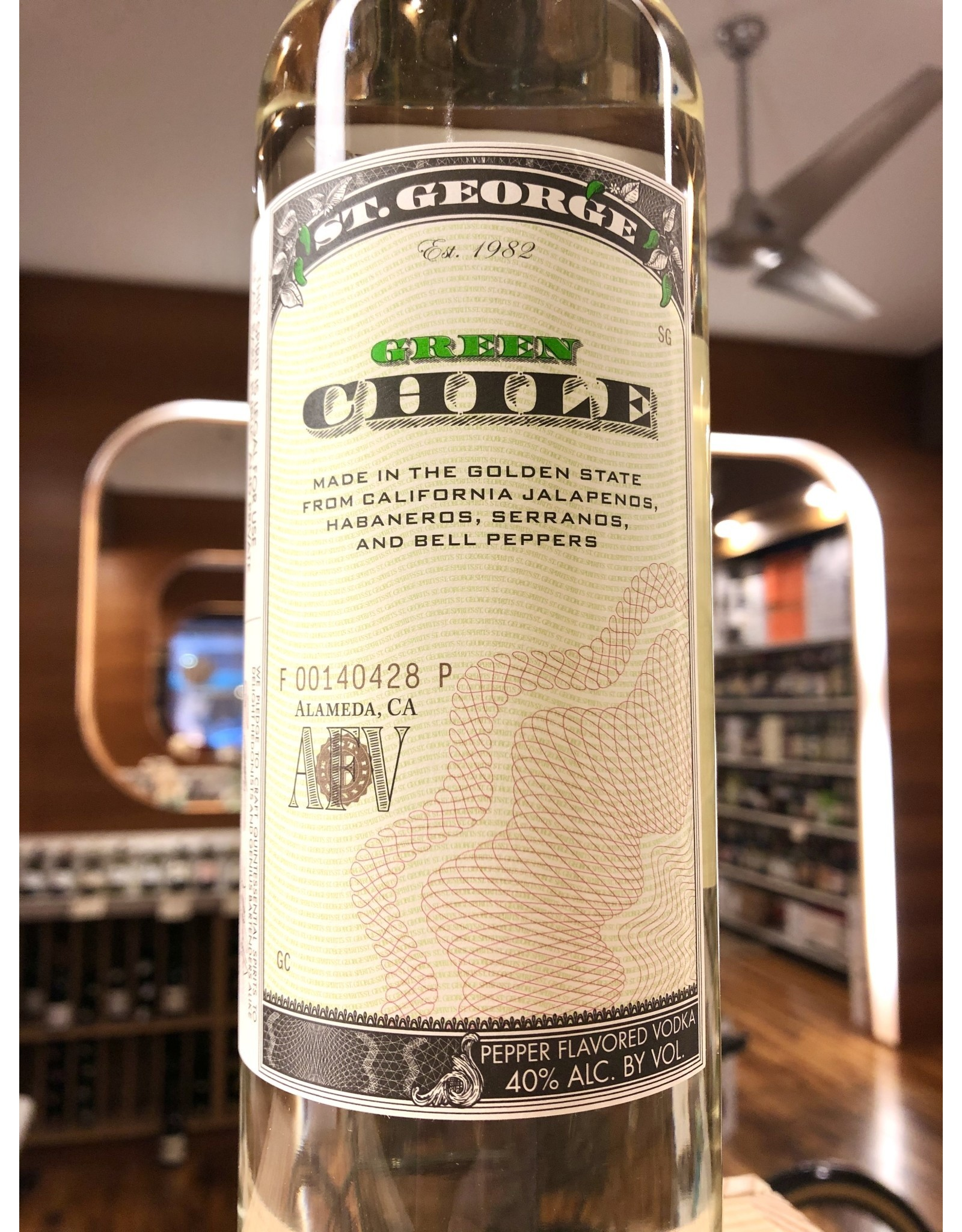 St George Green Chile Vodka - 750 ML