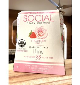 Social Strawberry Rose Sake - 4x10 oz.