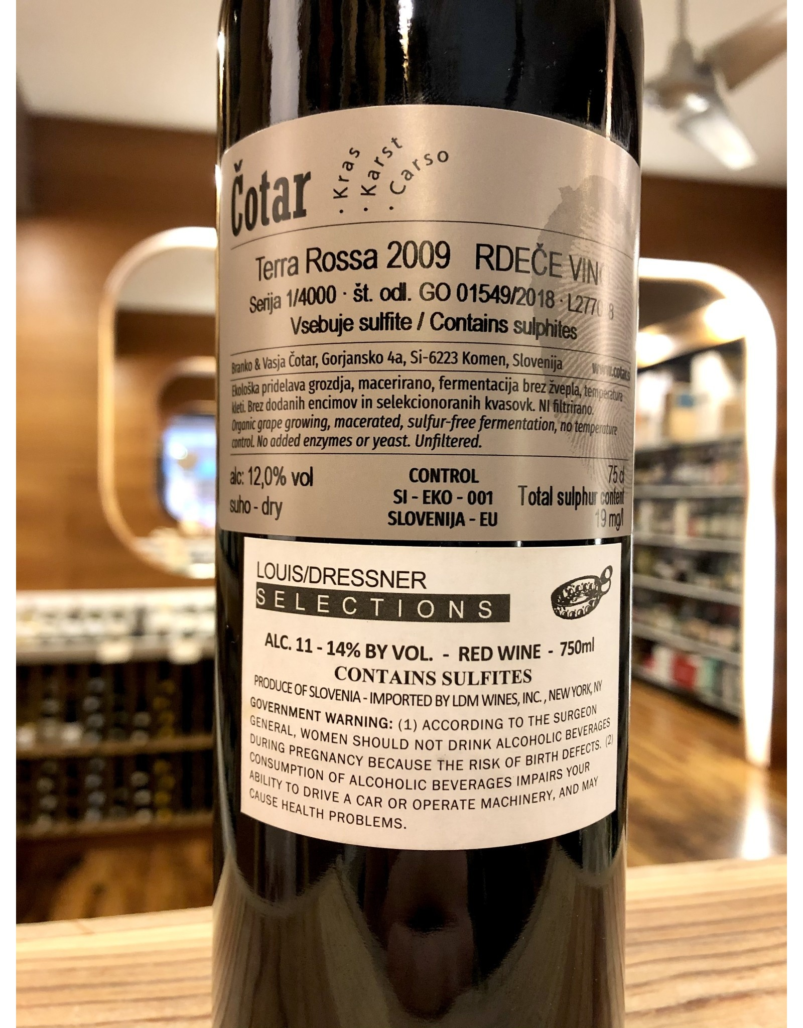 Cotar Terra Rossa 2009 - 750 ML