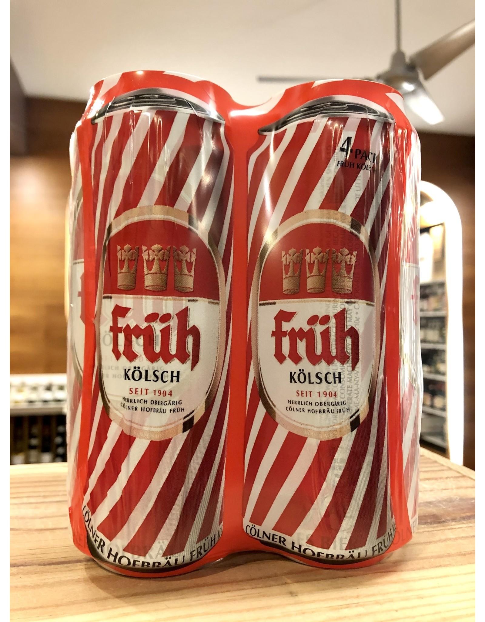 Fruh Kolsch Cans - 4x16.9 oz.