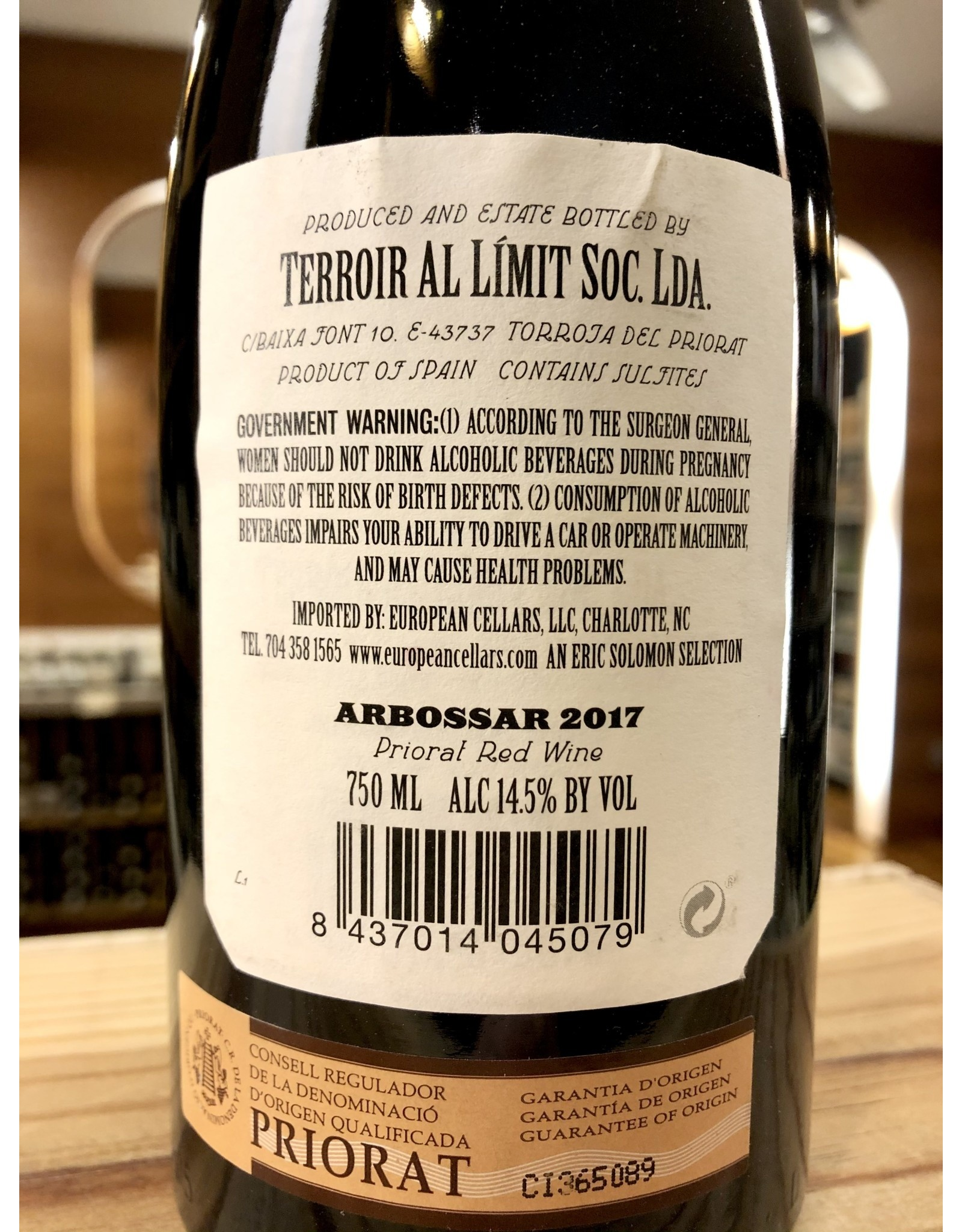 Terroir al Limit Arbossar Priorat - 750 ML