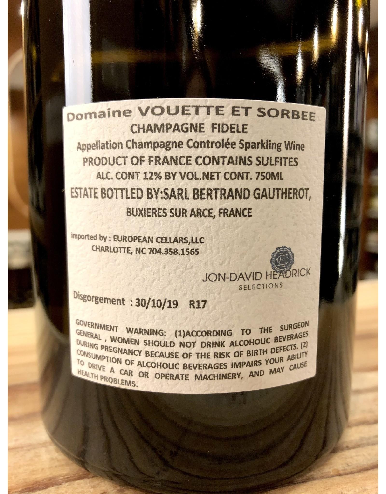 Vouette & Sorbee Fidele Brut Nature Champagne - 750 ML