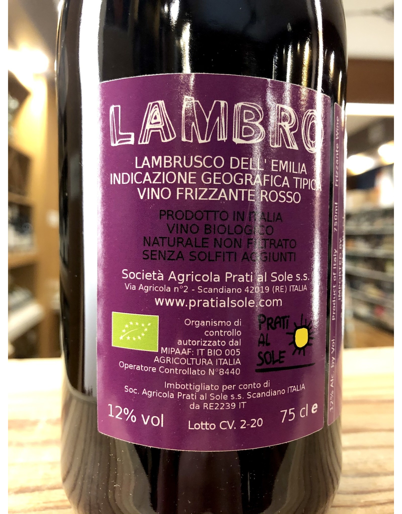 Prati al Sole Lambro Lambrusco - 750 ML